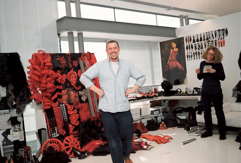 Portrait of Alexander McQueen by Nick Waplington