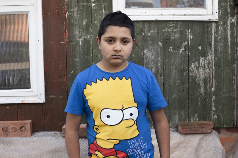 Young boy with Bart Simpson © Mahtab Hussain - You Get Me_