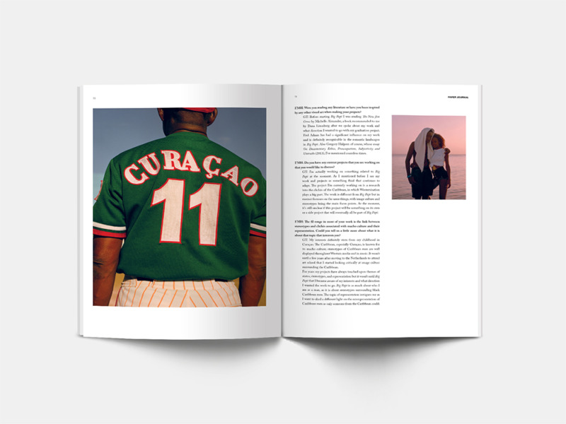 Spread from Paper Journal 01 showing work from Gilleam Trapenberg