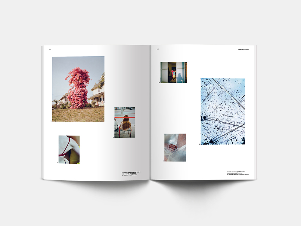 Spread from Paper Journal 01 showing work from Paper Journal Instagram