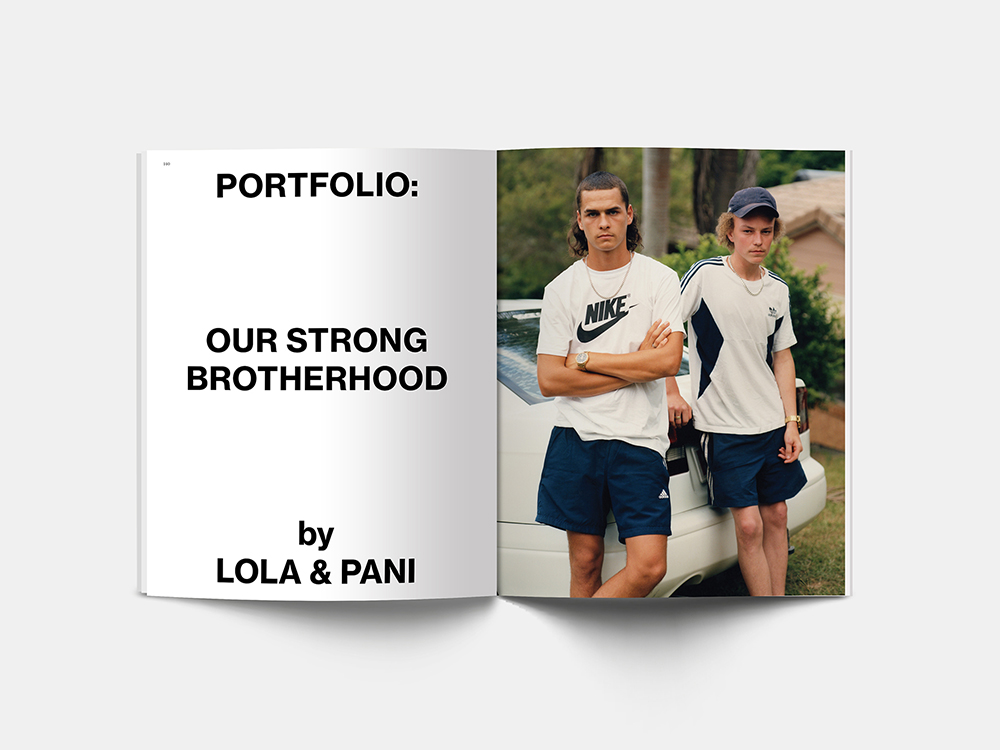 Spread from Paper Journal 01 showing work from Lola & Pani