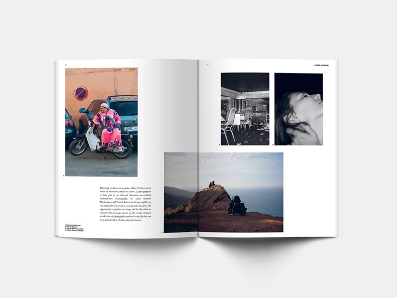 Spread from Paper Journal 01 showing work from Stefanie Moshammer and Patrick Bienert