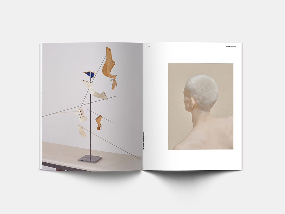 Spread from Paper Journal 01 showing work from Nhu Xuan Hua