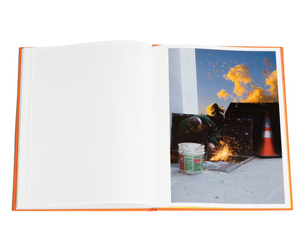 Spread from Golden Hour photobook by KangHee Kim