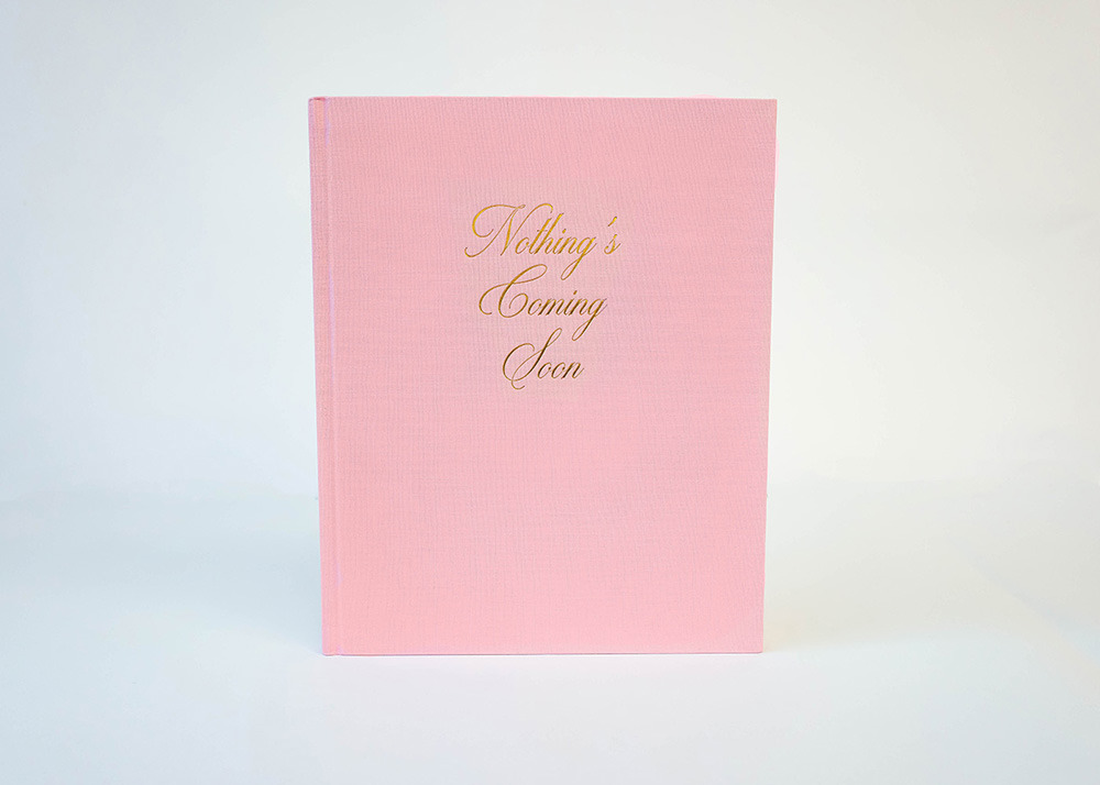 Book cover of Clay Jordan's monograph Nothing's Coming Soon