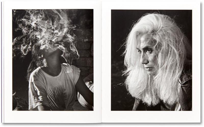 A spread from Adam Pape's photobook, Dyckman Haze, featuring 2 portraits of women.