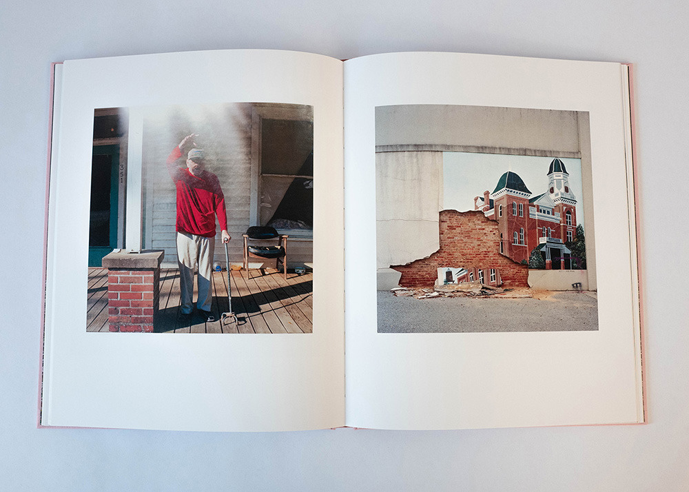 Inside spread of Clay Jordan's monograph titled Nothing's Coming Soon