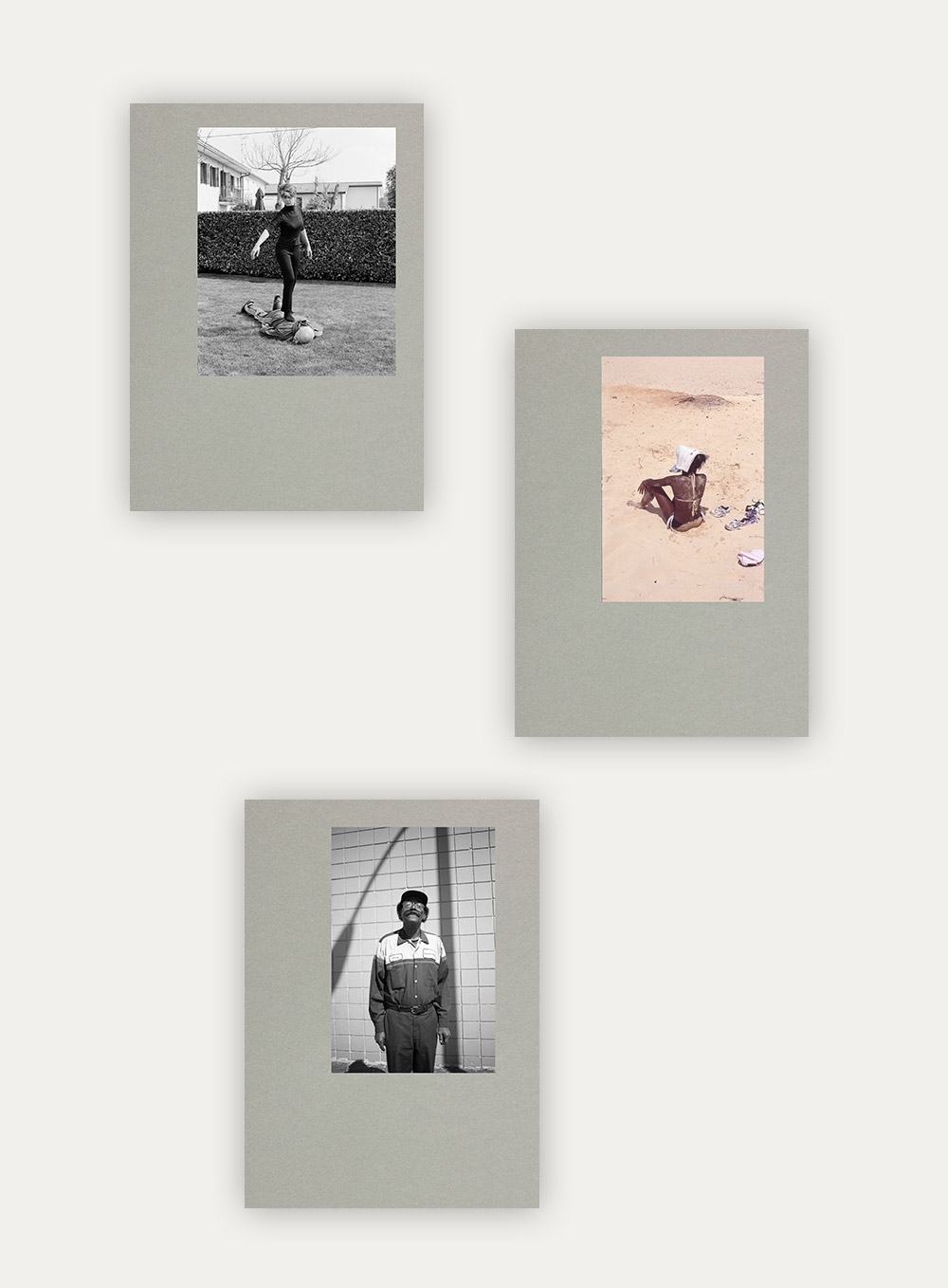 3 photobook covers from 3 different artists, part of the Paper Journal Annual series.