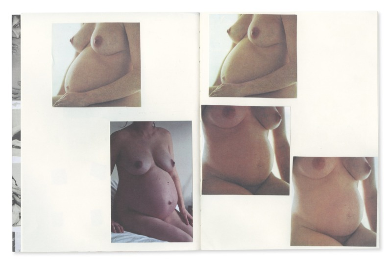 A selection of photographs of a pregnant woman.